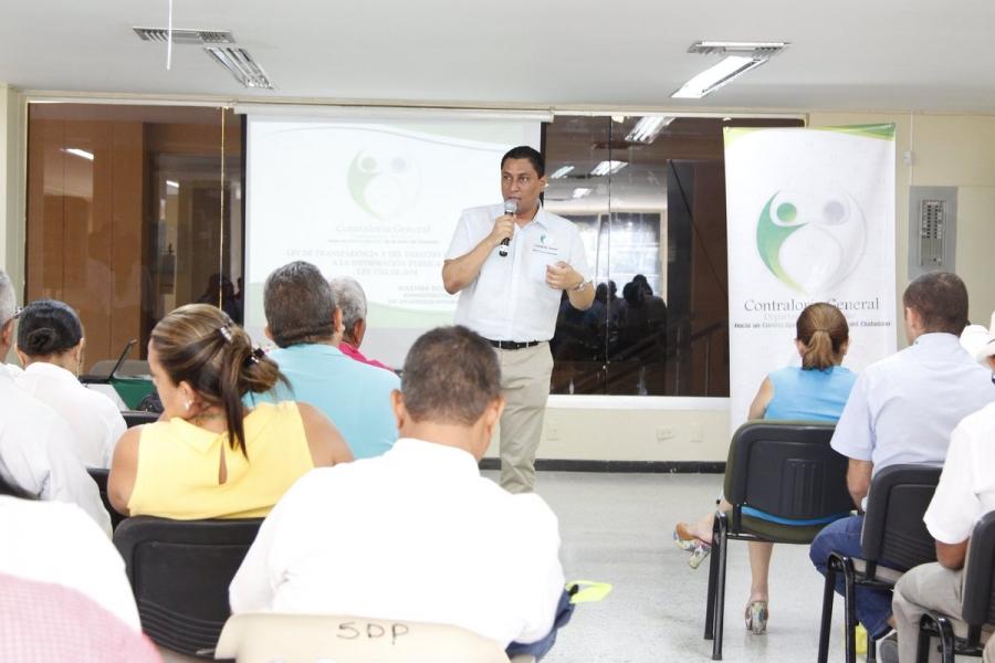 Contraloría General del Departamento del Cesar capacitó a los sujetos de control en Ley de Transparencia