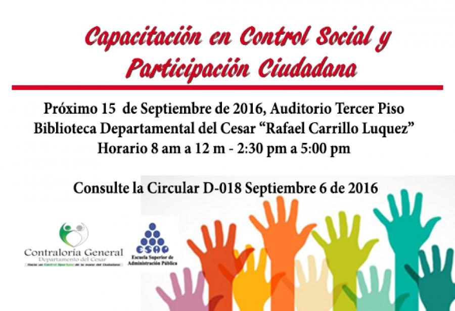 Capacitación Participacion ciudadana y control social