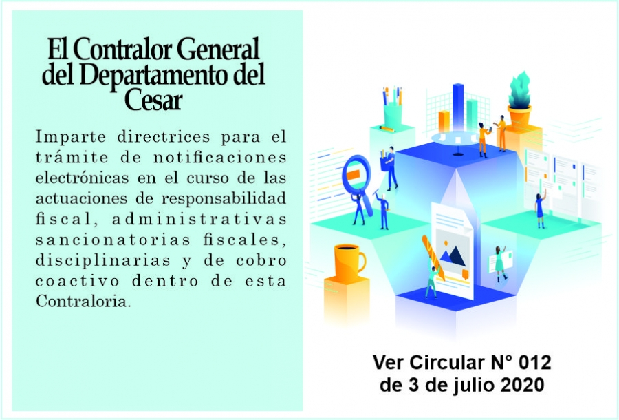 Circular N° 012 - Directrices para el Trámite de notificaciones electrónicas - Responsabilidad Fiscal