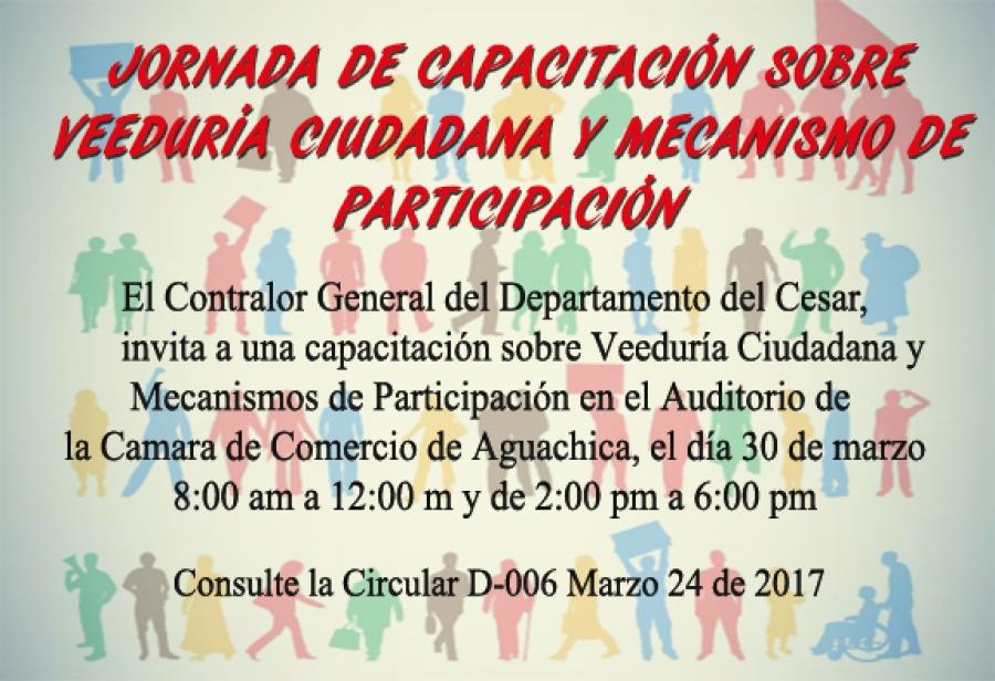Capacitación sobre Veedurias Ciudadanas y Mecanismos de Participación
