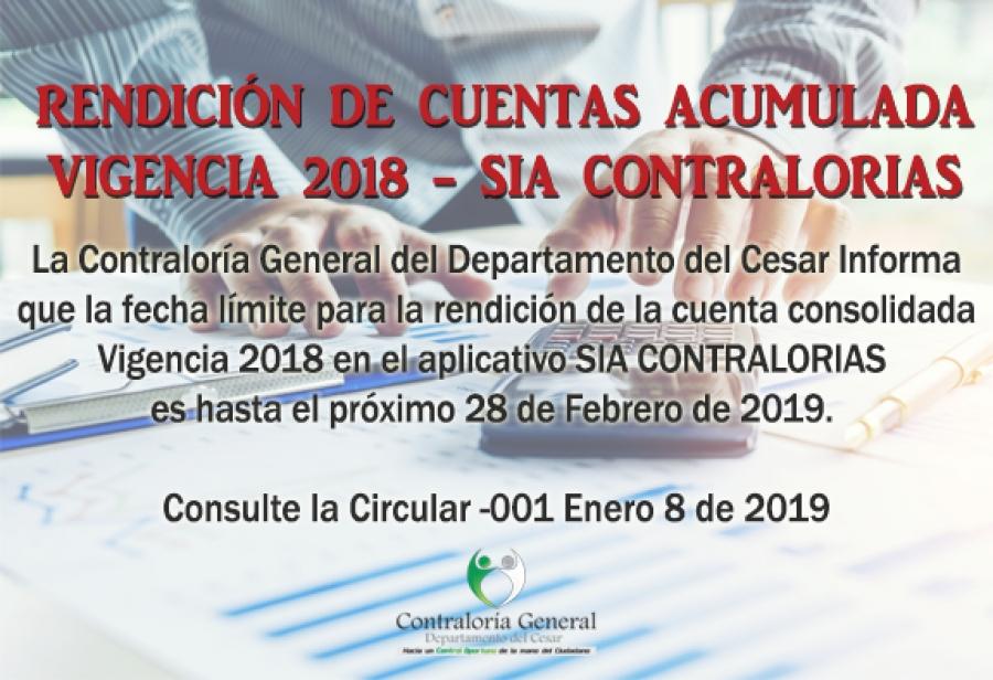 Rendición de Cuentas Consolidada Vigencia 2018