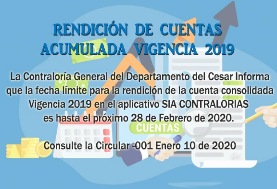 Rendición de Cuentas Consolidada Vigencia 2019