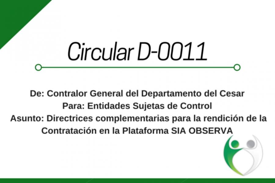 Circular D 0011