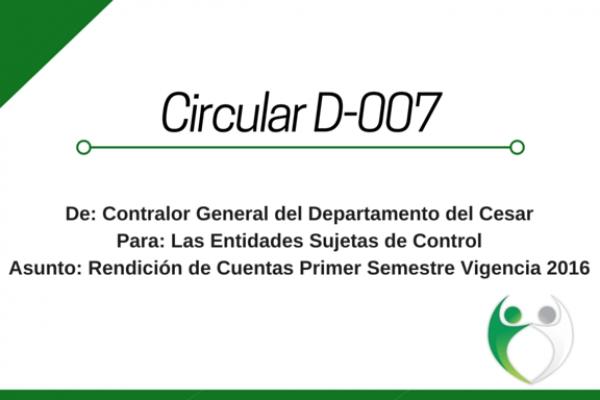 Circular D - 007