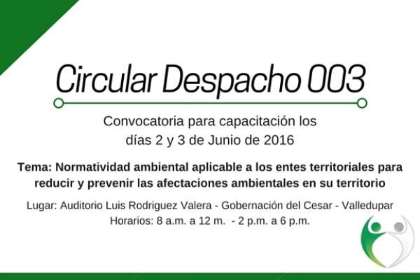 Circular Despacho 003